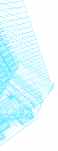 Structure bleue coté gauche